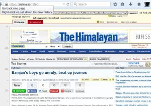 archive is snapshot of Bamjan boys go unruly beat up journos