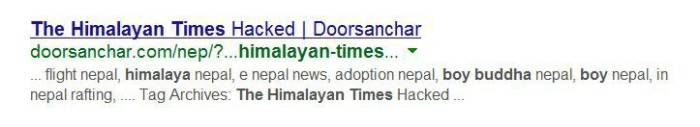 himalayantimes hacked no rchive
