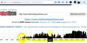 tht is online from 2002 not recent